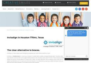 Invisalign in Houston Texas - Invisalign is a clear aligner system that gently straightens your teeth without brackets or wires. Invisalign is invisible braces to correct your crooked or crowded teeth,  overbites,  and gaps between teeth. The person who want beautiful smile but don't wish to apply traditional braces then invisalign is best option for them.