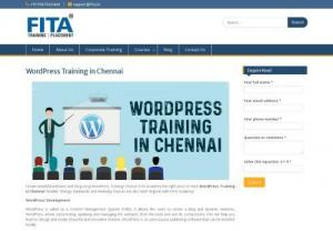 WordPress Training in Chennai - WordPress is a Content Management System. It is used to create a new blog and dynamic websites. It is used to create wonderful templates. It is a very good designing tool to create innovative websites. It is an open source also we can install locally. It's free to use. It's easy to learn and easy to use. For creating WordPress site we don't have programming knowledge. For more information about Wordpress Training in Chennai,  we will guide you more.