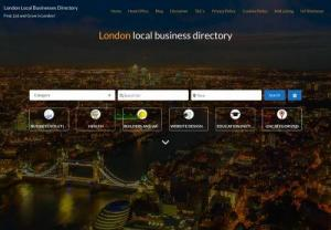 London Local Businesses Directory - We offer FREE and Featured listings for London Businesses. We cover everything from Web Design to Fish and Chips!