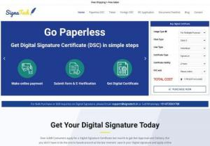 Digital signature certificate | apply for dsc online - Apply for online DSC from Signatech today and get your DSC delivered at your doorsteps. And save yourself from all the long and difficult offline processes.